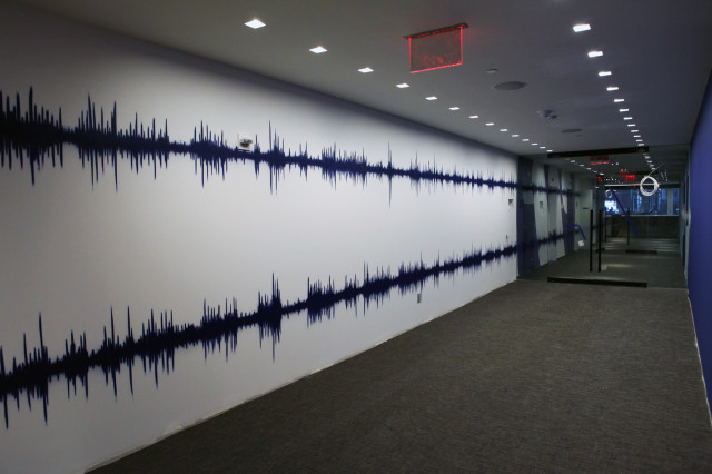 Sound wave graffiti art